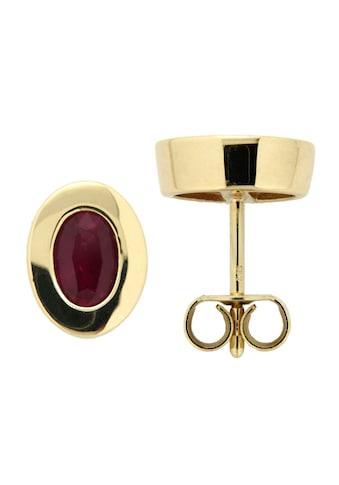 Orolino Ohrstecker »585/ -  Gelbgold echt Rubin Oval« kaufen