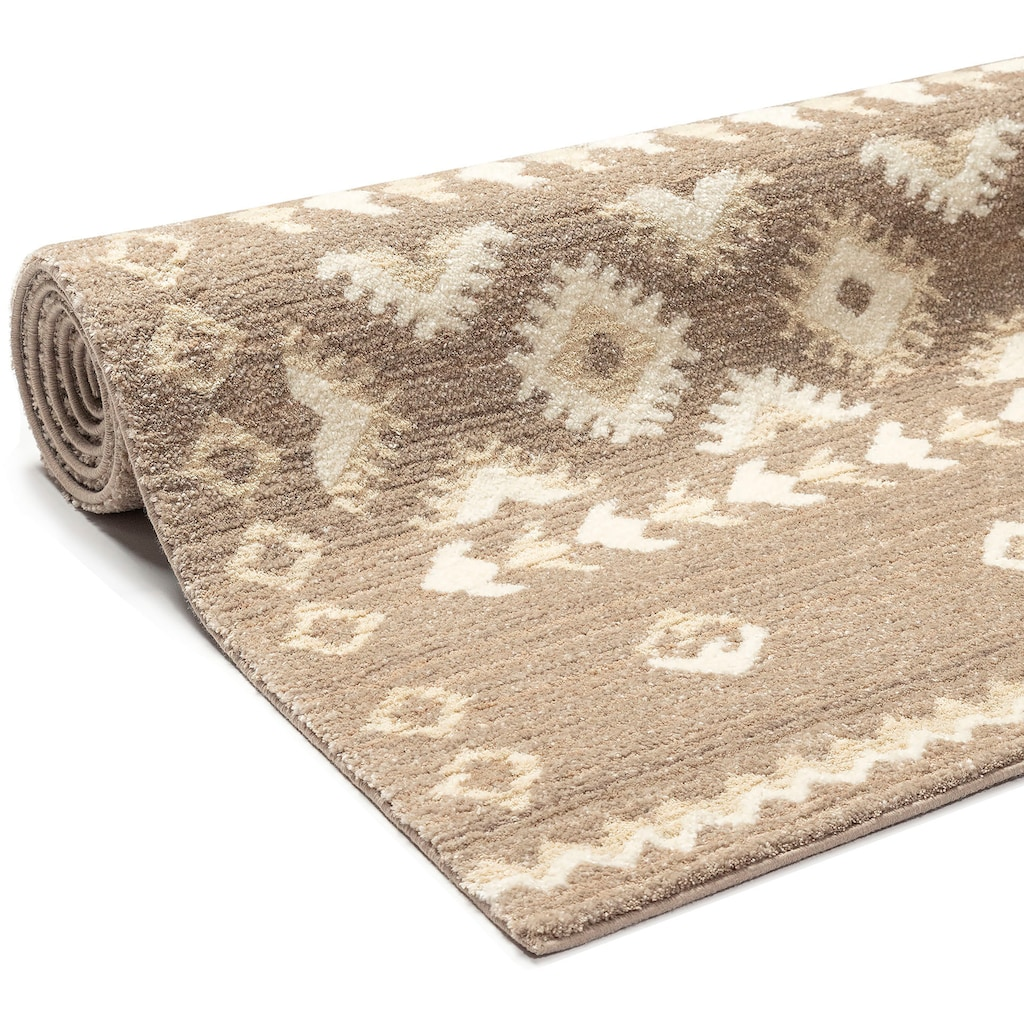 Home affaire Teppich »Amara«, rechteckig, 14 mm Höhe, in Berber-Optik, Wohnzimmer