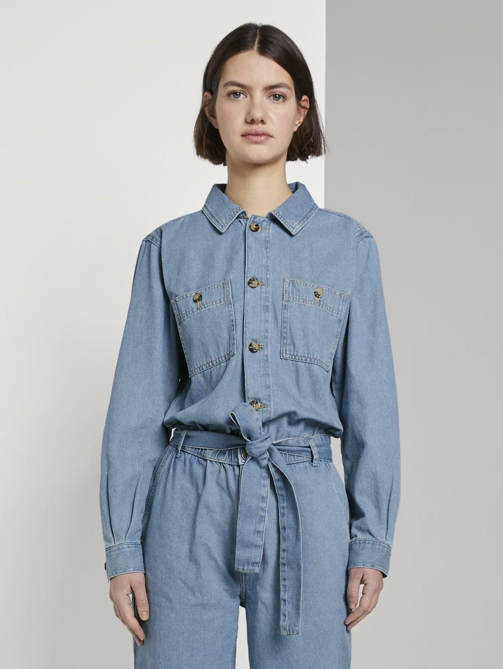 TOM TAILOR Denim Jumpsuit Jeans Jumpsuit Damenmode/Inspiration/Modetrends/Trendfarbe Blau