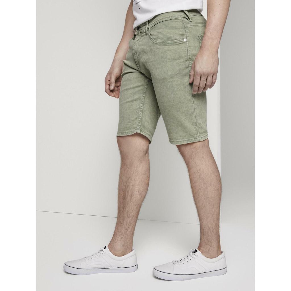 TOM TAILOR Denim Jeansshorts »Basic Jeansshorts mit Kordel-Schlüsselanhänger «