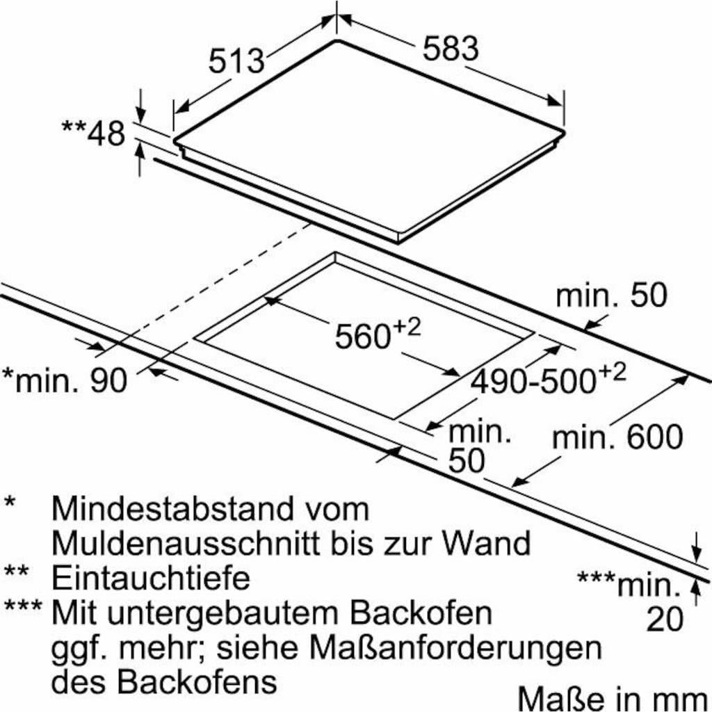 NEFF Elektro-Kochfeld von SCHOTT CERAN® »T16BD76N0«, T16BD76N0, mit TouchControl-Bedienung