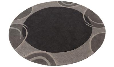Wollteppich, »Bellary«, Theko Exklusiv, rund, Höhe 13 mm, handgetuftet kaufen