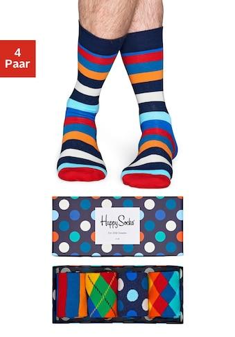 Happy Socks Socken, (Box, 4 Paar), mit verschiedenen Mustern in der Box kaufen