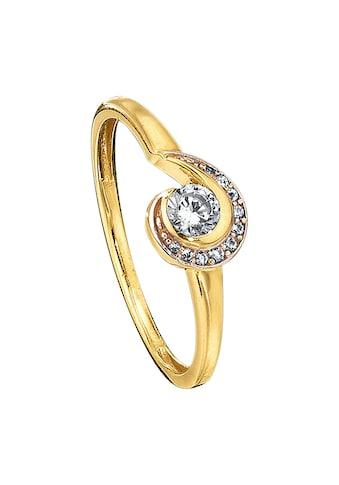 Jacques Lemans Ring »375/ -  Gelbgold mit Zirkonia weiß« kaufen