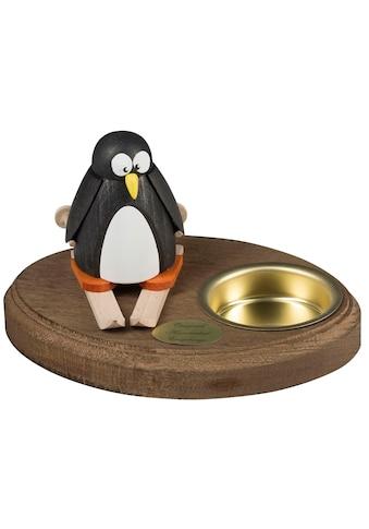 SAICO Original Leuchter Pinguin auf Ski für 1 Teelicht kaufen
