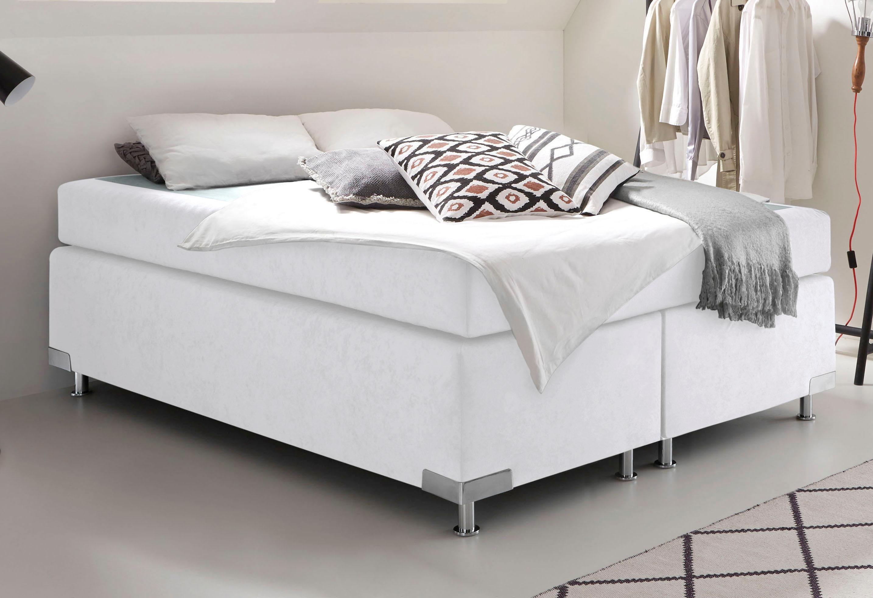 Westfalia Schlafkomfort Boxspringbett ohne Kopfteil frei im Raum stellbar
