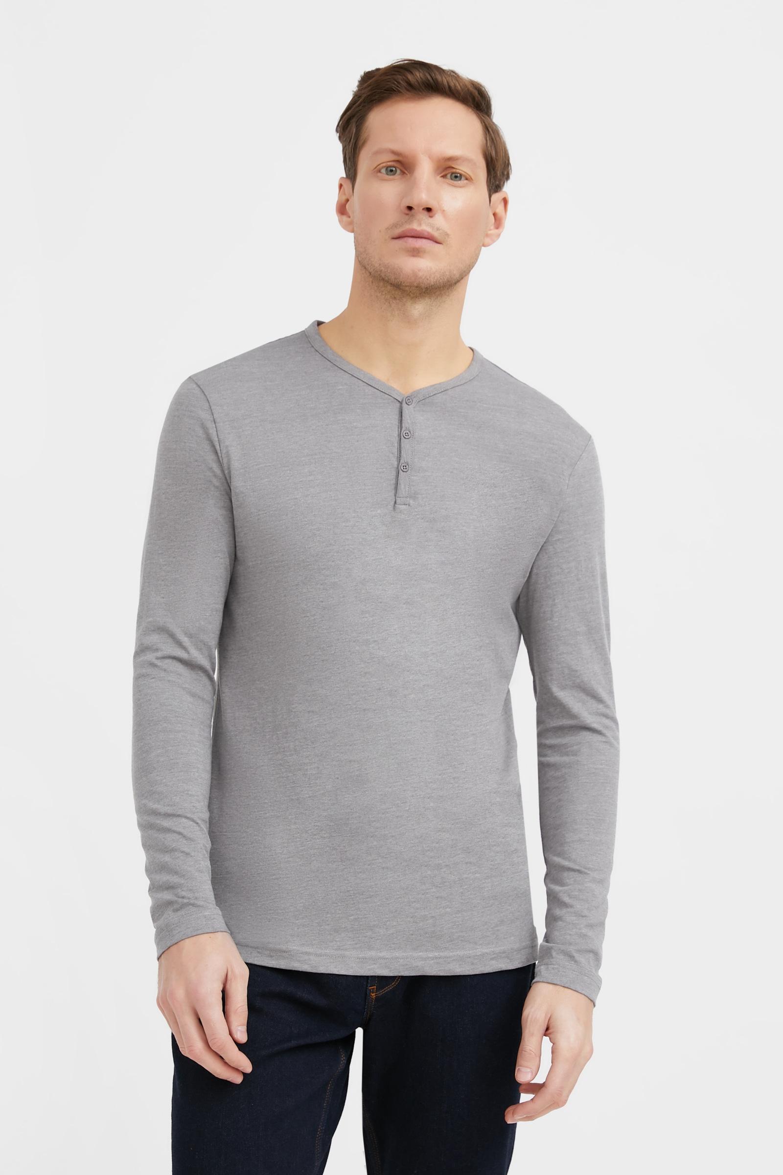 finn flare -  Langarmshirt, mit V-Ausschnitt