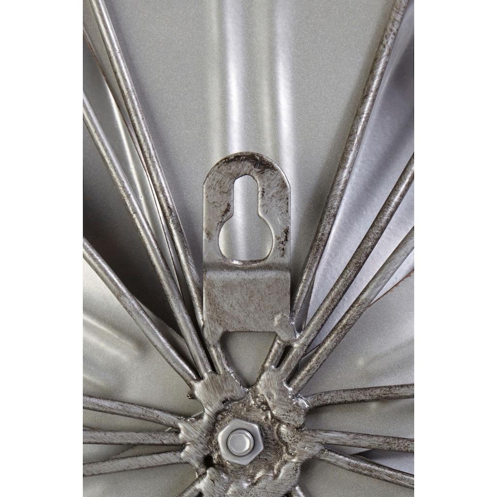 Home affaire Wanddekoobjekt »Blume«, Wanddeko, aus Metall, mit Perlmutt Verzierung