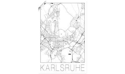 Artland Wandbild »Retro Karte Karlsruhe Deutschland«, Deutschland, (1 St.), in vielen... kaufen