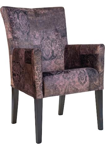 Home affaire Armlehnstuhl »King«, Esszimmerstuhl mit modernem Vintage Bezug kaufen