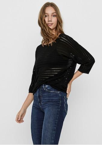 Vero Moda Longpullover »VMYOYO«, mit durchscheinenden Ajour-Streifen kaufen