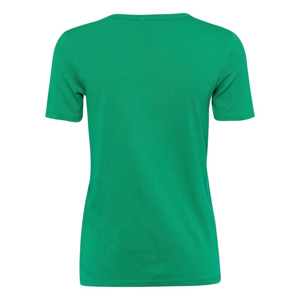 United Colors of Benetton T-Shirt, mit glitzerndem Label-Print vorn