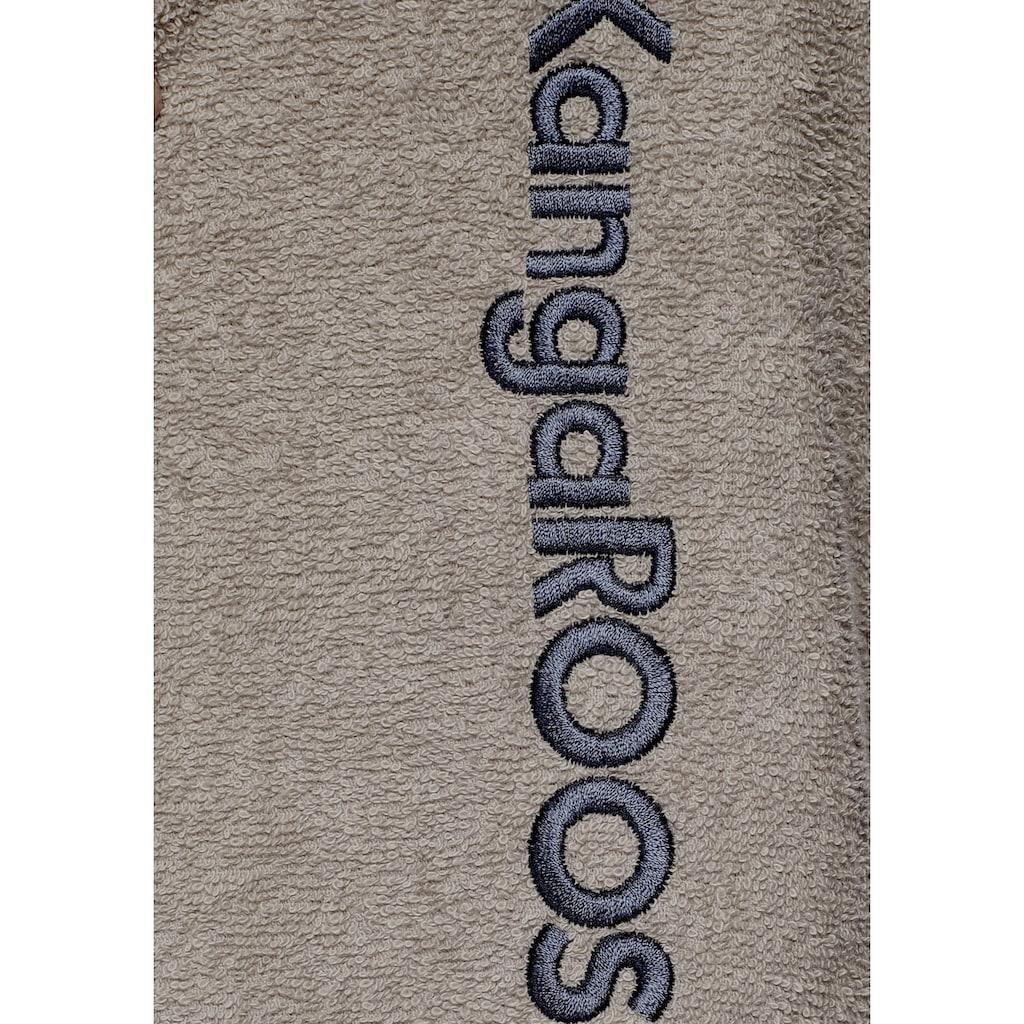 KangaROOS Unisex-Bademantel »Henry«, (1 St.), mit Kaputze und Logostickerei