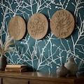 Art for the home Mehrteilige Bilder »Wood Leaves«, (Set, 3 St.)