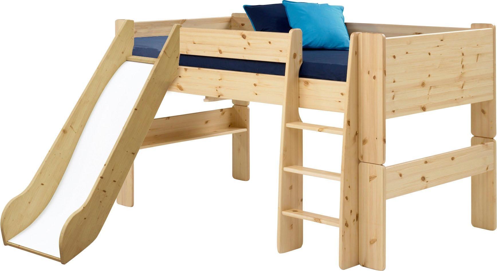 Home affaire Spielbett FOR KIDS mit Leiter und Rutsche in verschiedenen Farben