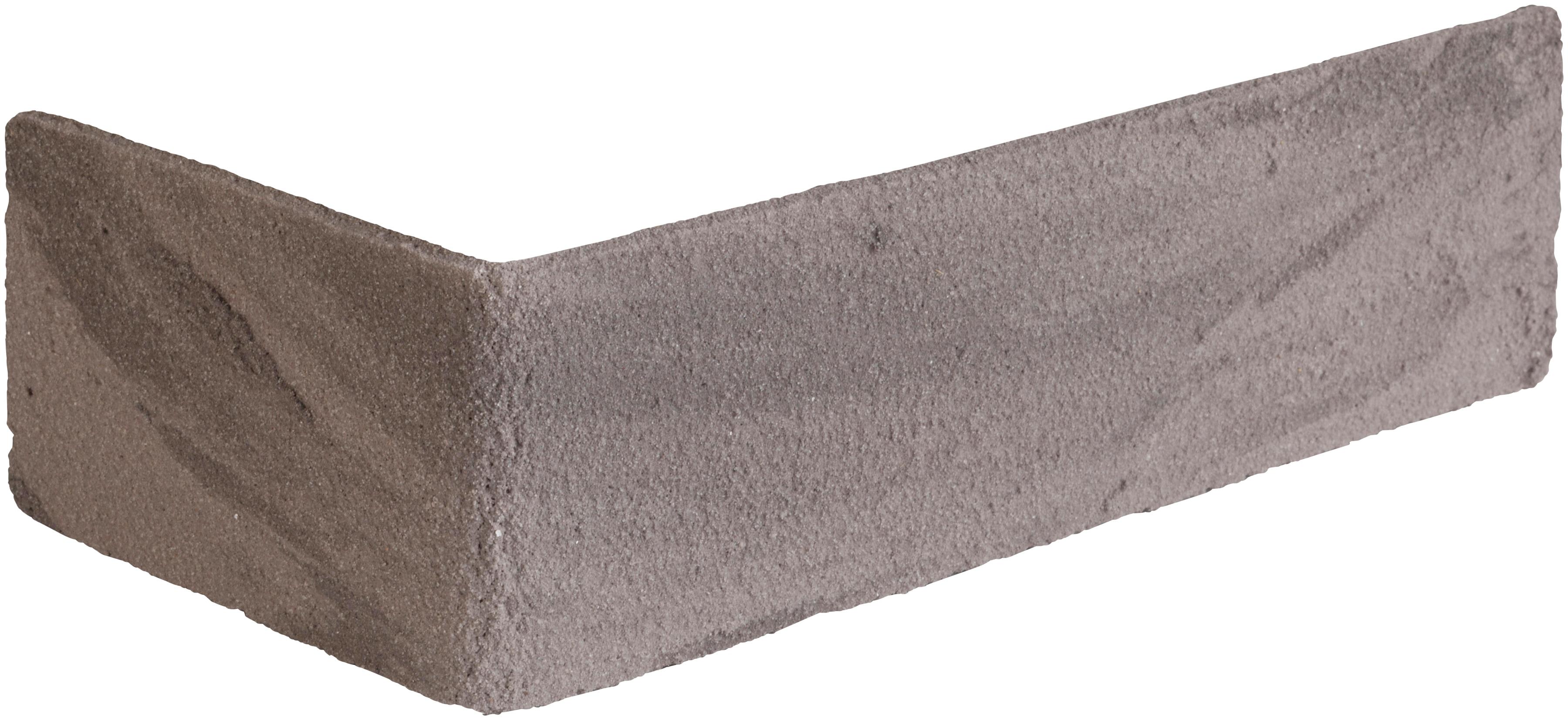 ELASTOLITH Verblender Kreta Eckverblender, grau, für Außen- und Innenbereich, 2 Lfm grau Verblendsteine Paneele Bauen Renovieren