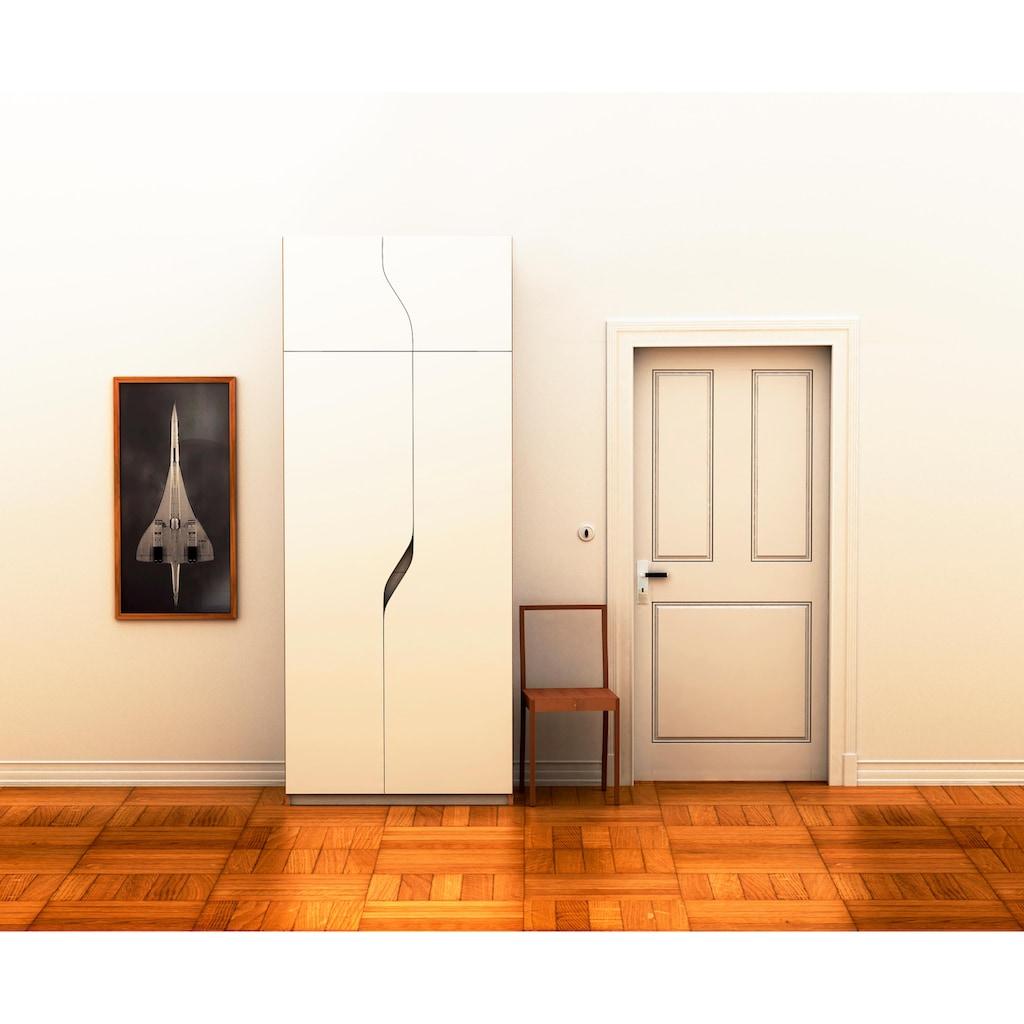 Müller SMALL LIVING Kleiderschrank »PLANE Ausstattung Nr. 5«, inklusive einer innenliegenden Tür und einer Kleiderstange für Blusen und Blazer oder Kinderbekleidung