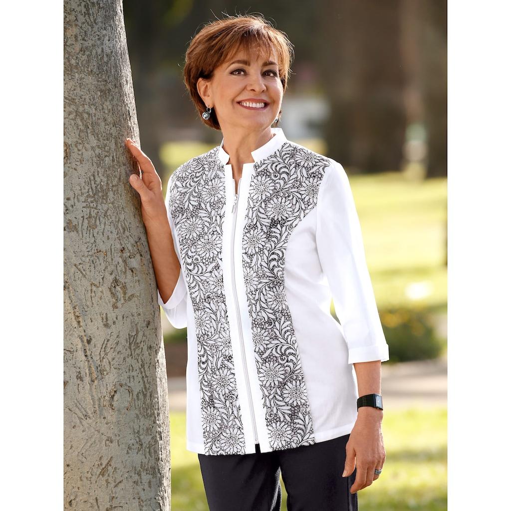 Paola Blusenjacke, mit Spitzenbesatz