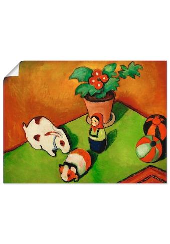 Artland Wandbild »Walterchens Spielsachen«, Arrangements, (1 St.), in vielen Größen &... kaufen