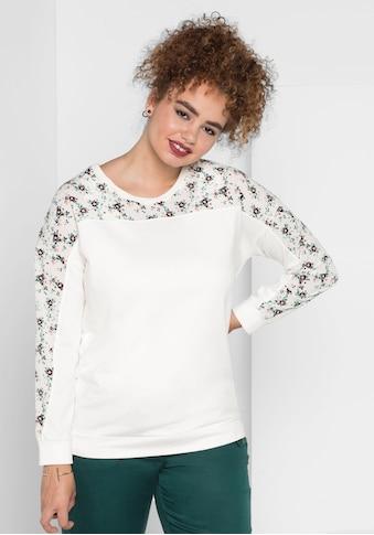 Sheego Sweatshirt, mit überschnittenen Ärmeln kaufen