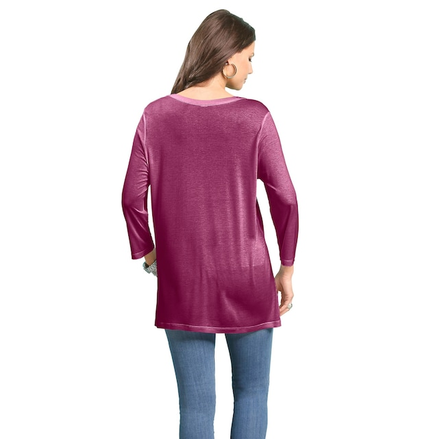 Classic Basics Shirttunika mit dekorativer Faltenpartie am Ausschnitt
