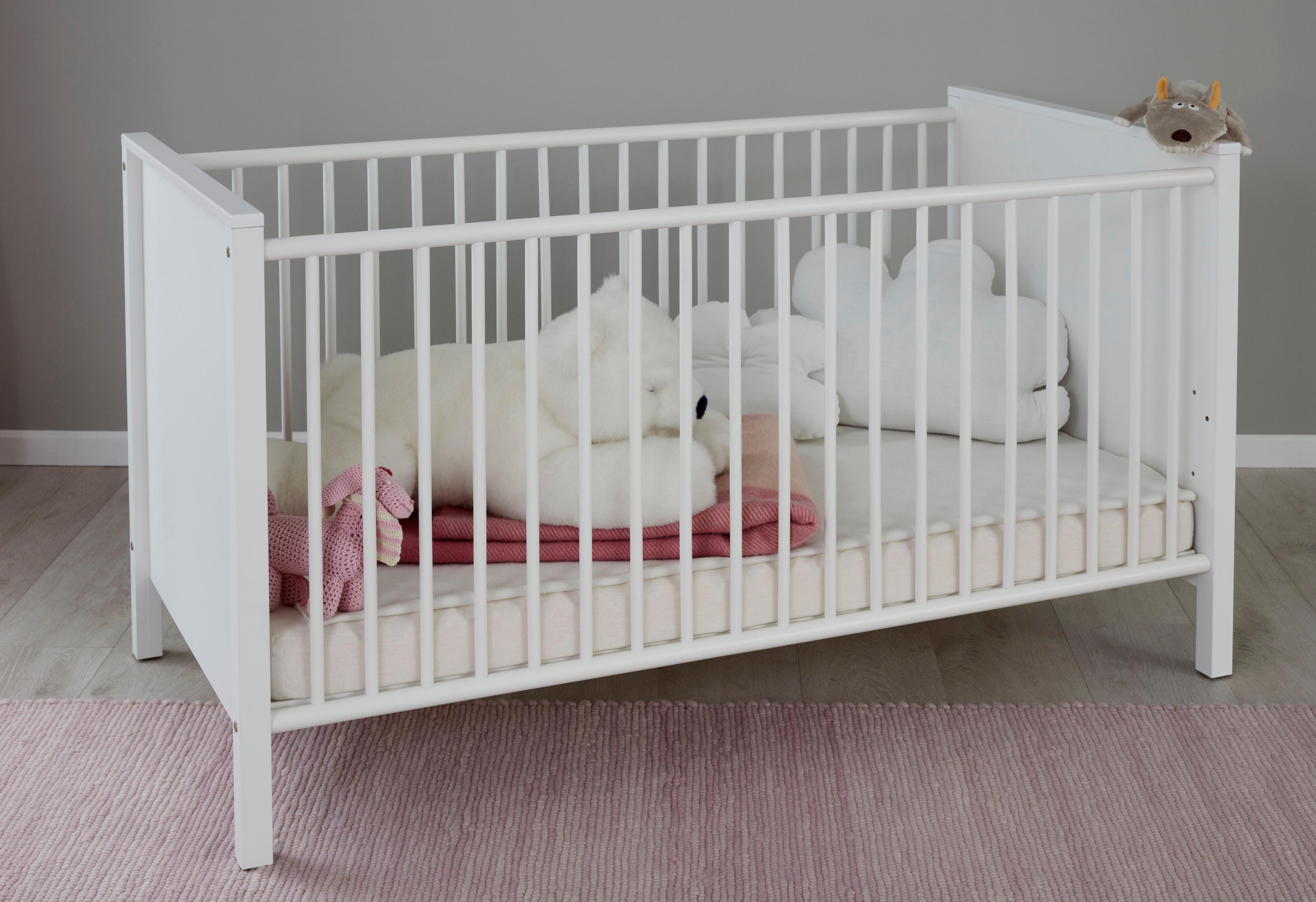 Kinderbett »Westerland« in weiß | Kinderzimmer > Kinderbetten > Kinderbetten | Weiß