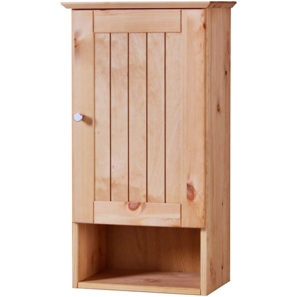 welltime Hängeschrank »Venezia Landhaus«, Badmöbel aus Massivholz, Breite 33 cm