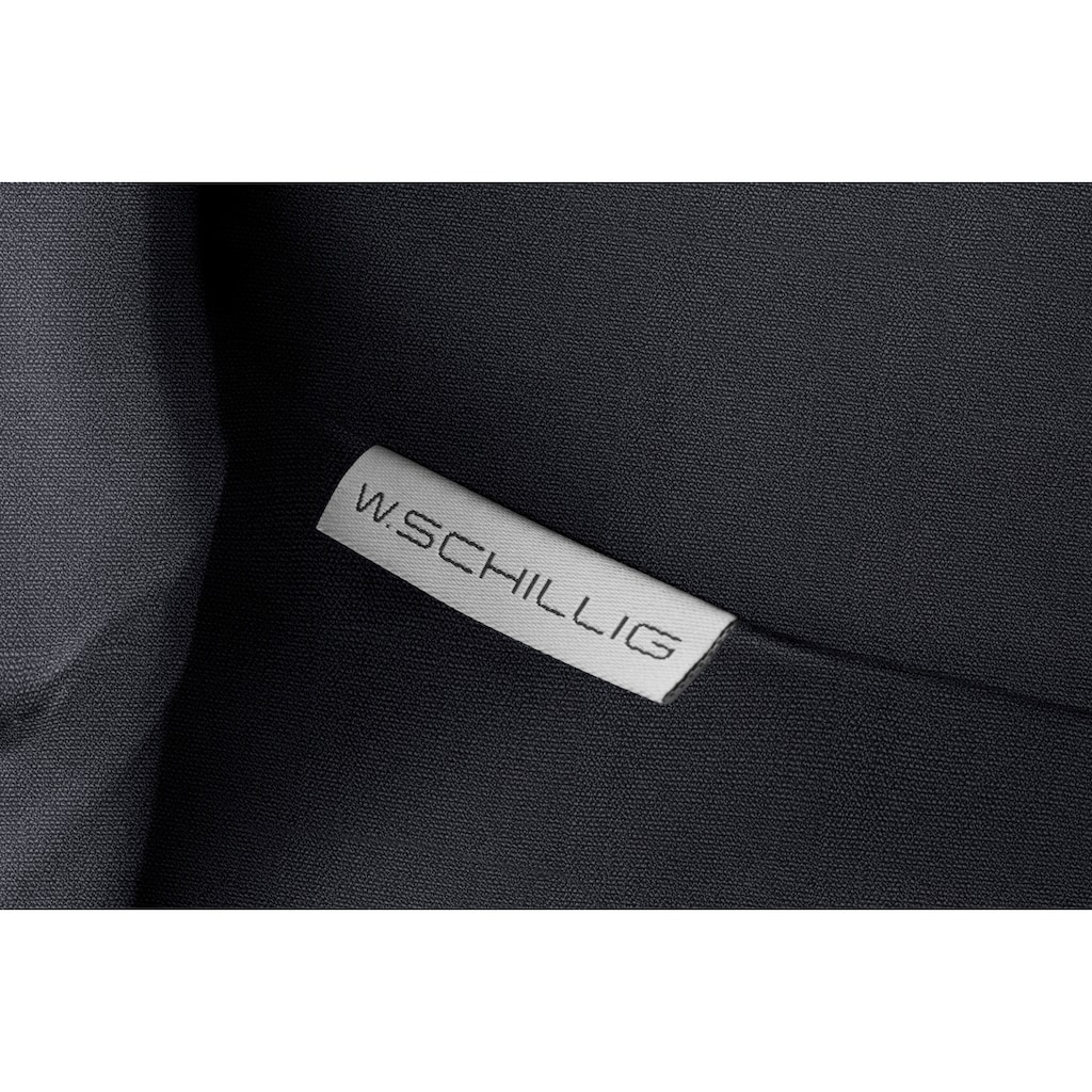 W.SCHILLIG Hocker »sherry«, German Design Award 2018, Metallfüße in Schwarz pulverbeschichtet, Breite 82 cm