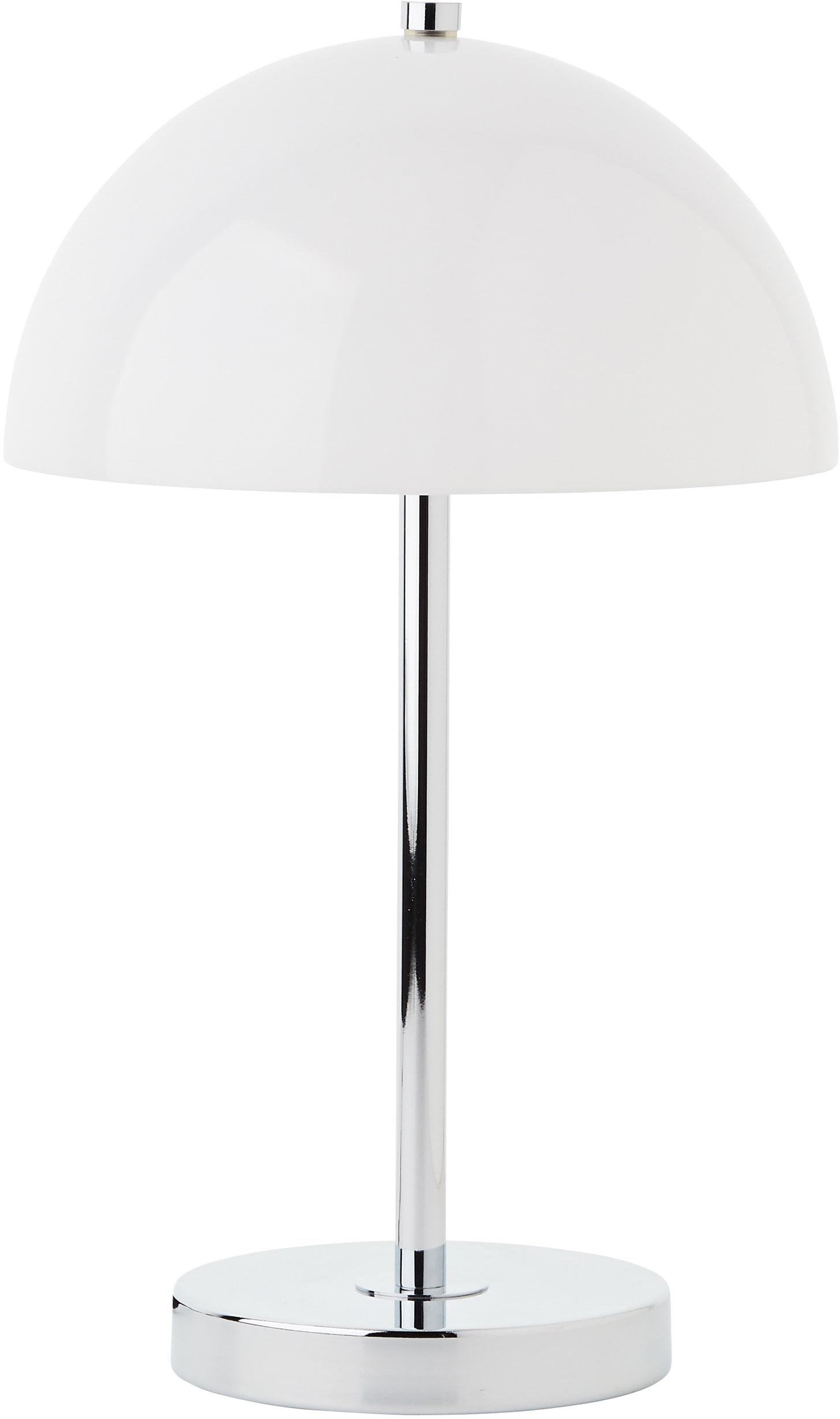 elbgestoeber Tischleuchte elbhelm, E27, chromfarben, mit weißem Glasschirm, H: 38cm