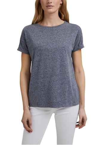 Esprit T-Shirt, im Basic Schnitt mit krempelbaren Ärmeln kaufen