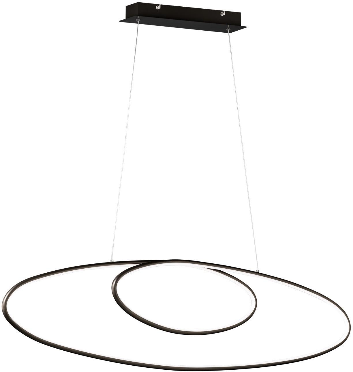 TRIO Leuchten LED Pendelleuchte AVUS, LED-Board, 1 St., Warmweiß, LED Hängelampe, LED Hängeleuchte