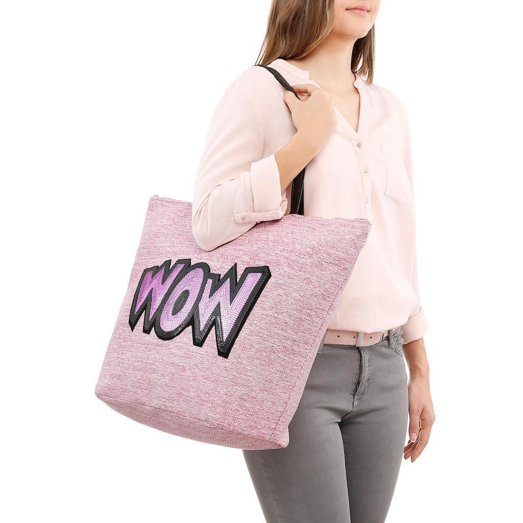 fabrizio® Strandtasche, mit modischem Pailetten verziert
