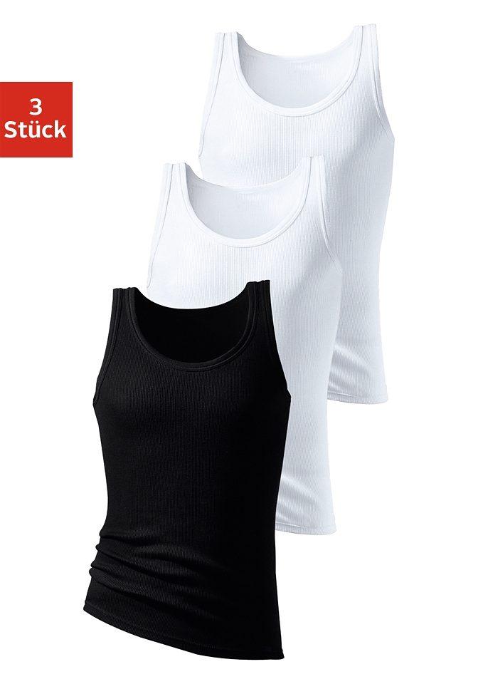 HIS Unterhemd (3 Stück)   Bekleidung > Wäsche > Unterhemden   Schwarz   Baumwolle   H.I.S