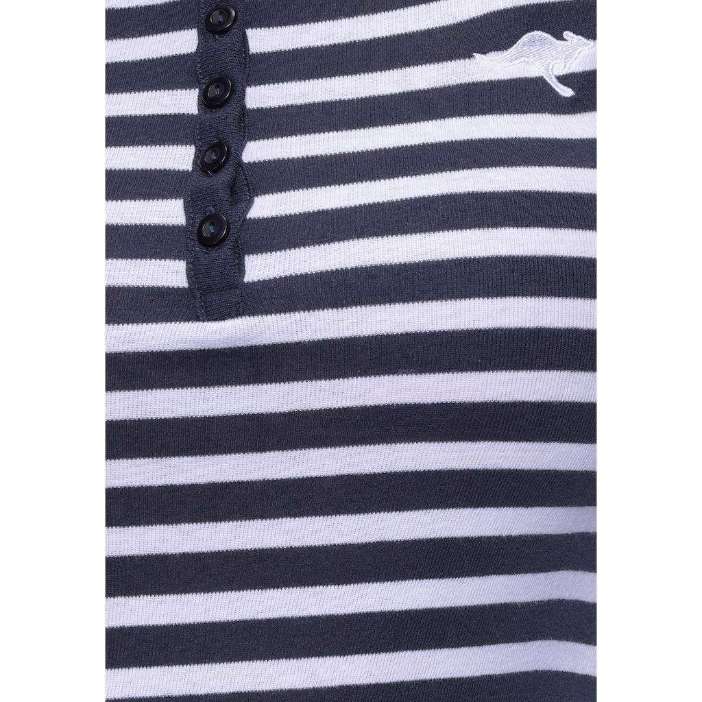KangaROOS Langarmshirt, mit Spitzenärmeln