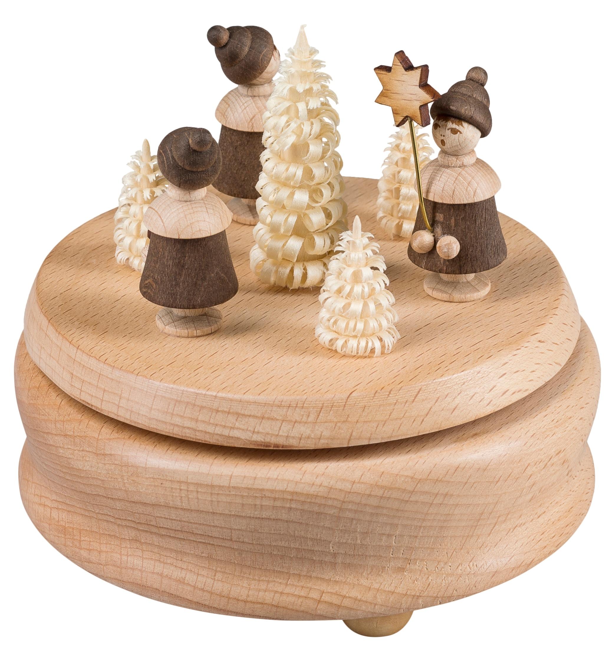 SAICO Original Spieluhr, Kurrende beige Baby Spieluhren Kleinkind Spieluhr