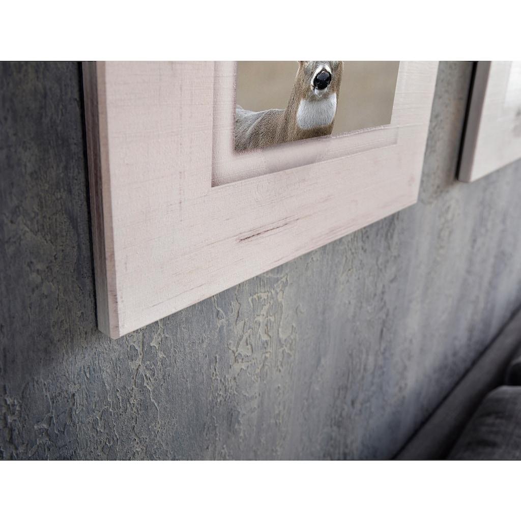 Home affaire Holzbild »Hirsch«, 40/40 cm