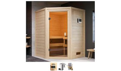 KARIBU Sauna »Anni«, 3,6 - kW - Bio - Plug & Play Ofen mit ext. Steuerung kaufen