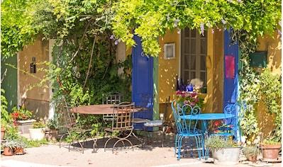 Papermoon Fototapete »Provence Cafe Shop«, Vliestapete, hochwertiger Digitaldruck kaufen