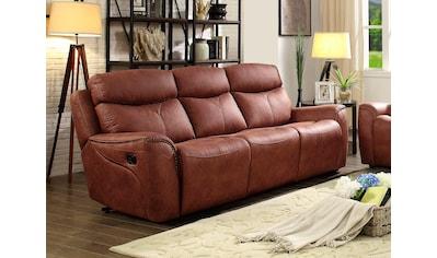 Home affaire 3-Sitzer »Pius«, mit Relaxfunktion und Nieten an den Armlehnen, Federkern kaufen