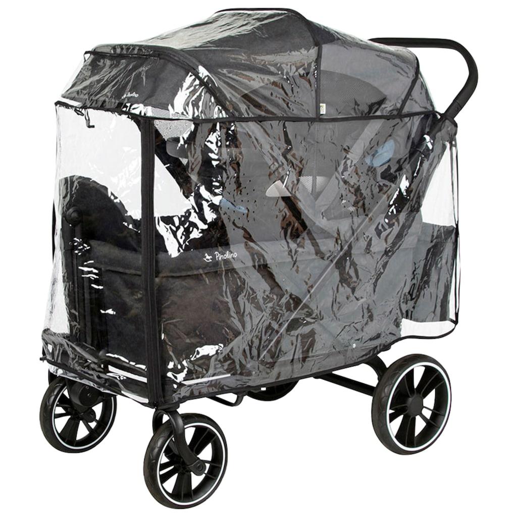 Pinolino® Bollerwagen »Cruiser Premium«, (Set), BxTxH: 118x64x116 cm, inkl. Babyschalenadapter und Regenschutzhaube