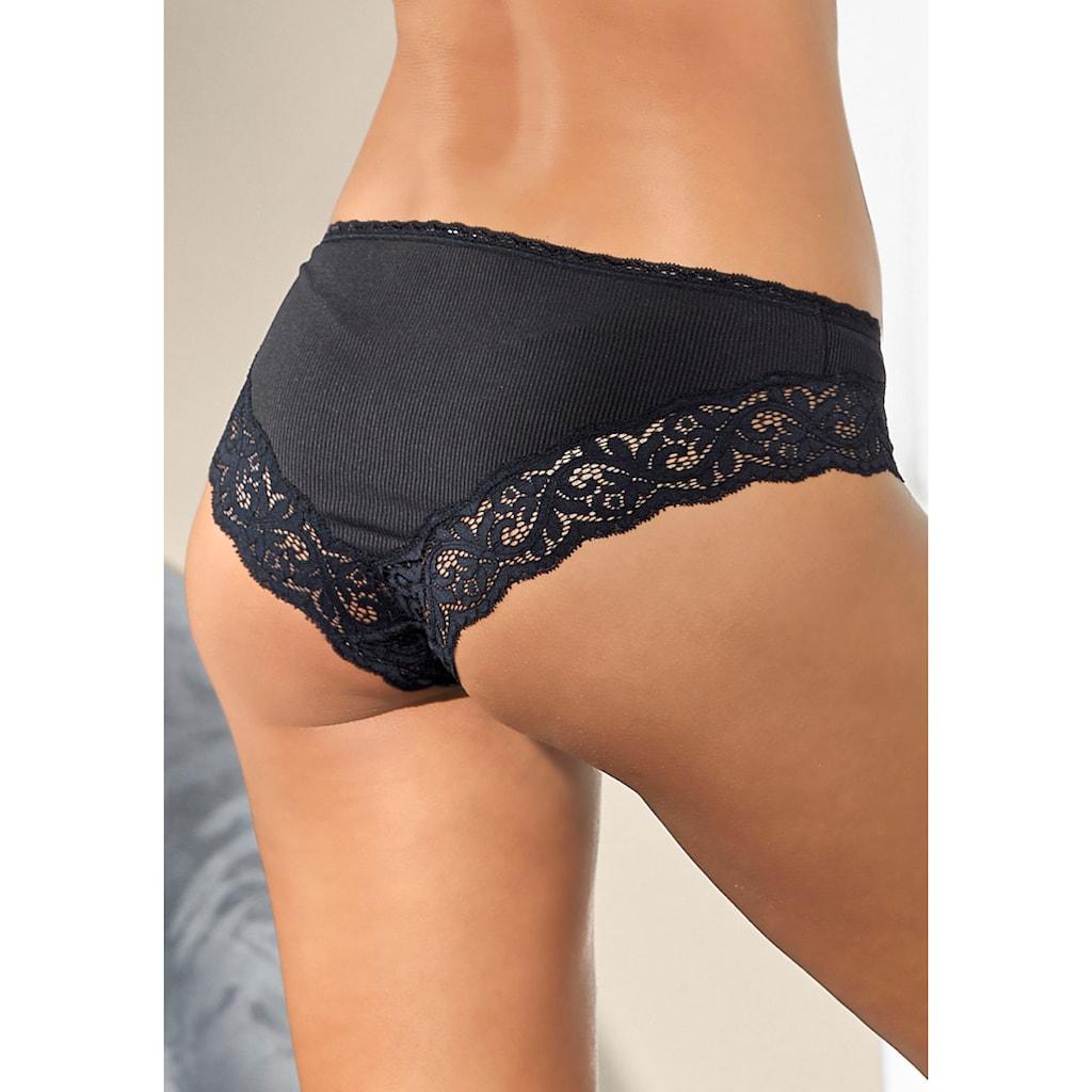 LASCANA Bikinislip, aus modischer Ripp-Qualität