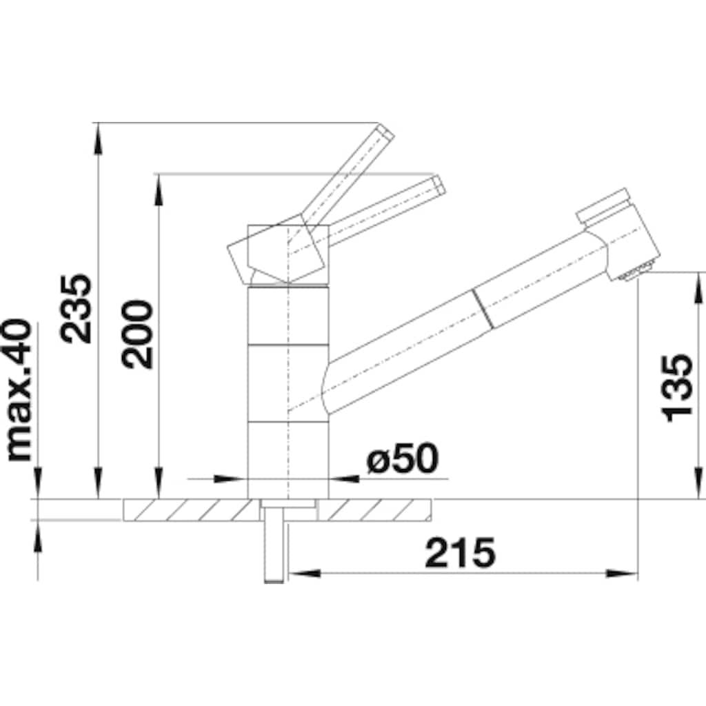 Blanco Küchenarmatur »TIVO-S-F«, Hochdruck, mit herausnehmbarer Vorfensterarmatur