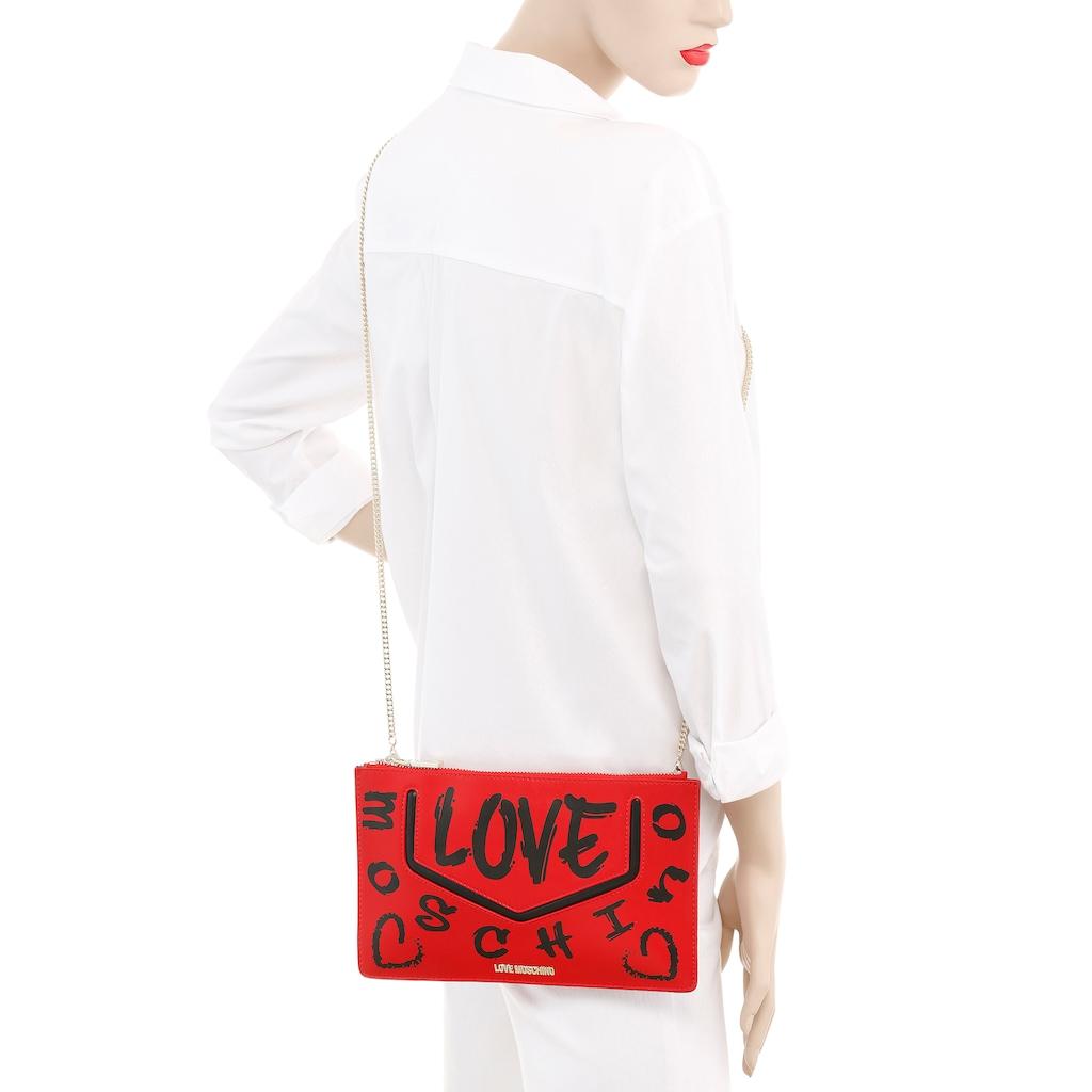 LOVE MOSCHINO Clutch, mit schöner Umhängekette