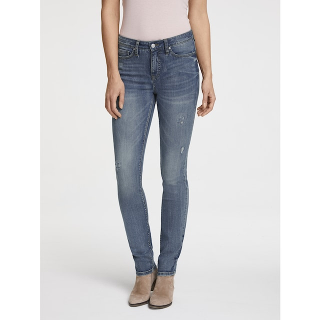 Bauchweg-Jeans Aleria mit Destroyed-Effekt