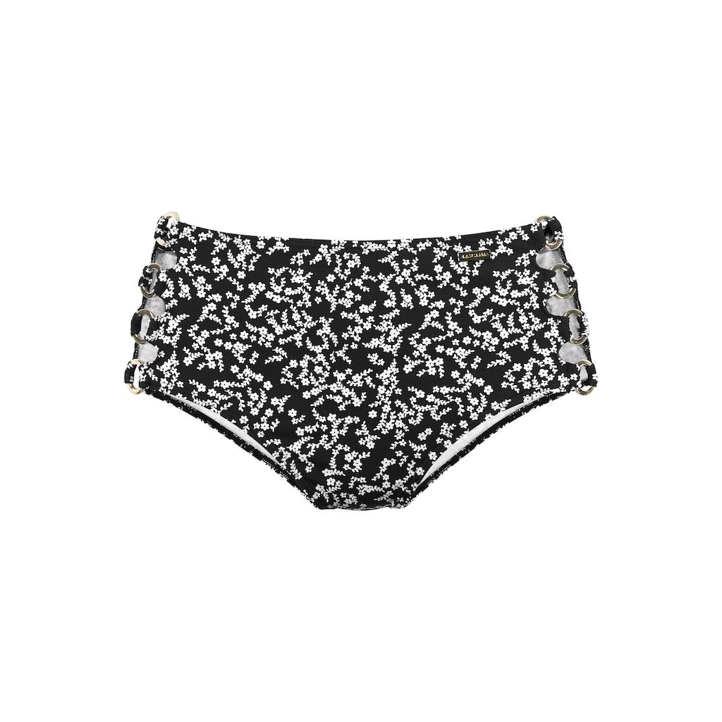 LASCANA Bikini-Hose »Meadow«, Goldene Zierringe an den Seiten