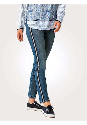 Mona Jeans mit Galon-Streifen kaufen