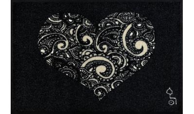 wash+dry by Kleen-Tex Fußmatte »Liebe ist alles«, rechteckig, 7 mm Höhe,... kaufen