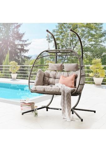 DESTINY Hängestuhl »Coco Double Relax«, Polyrattan/Alu, inkl. Sitz -  und Rückenkissen kaufen
