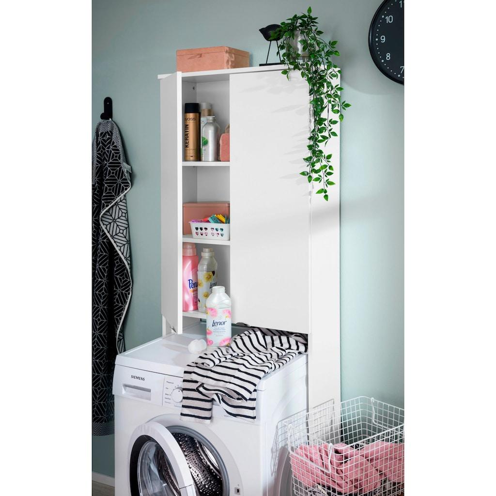 welltime Waschmaschinenumbauschrank »Elis«, Breite 64 cm, Badmöbel, weiß