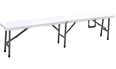 GARDEN PLEASURE Gartenbank »MUFARO«, Stahl/Kunststoff, klappbar, 180x25x43 cm, weiß kaufen